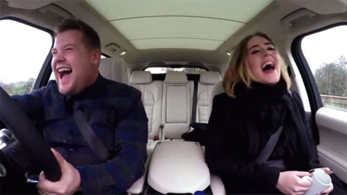 Photo of Adele and James Corden