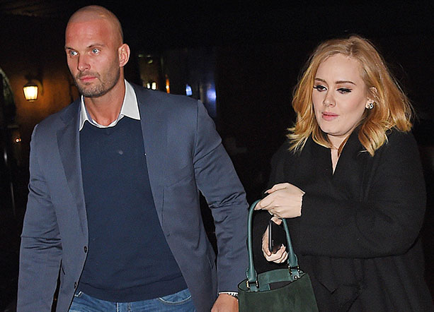 Picture of Adele and her hunky bodyguard