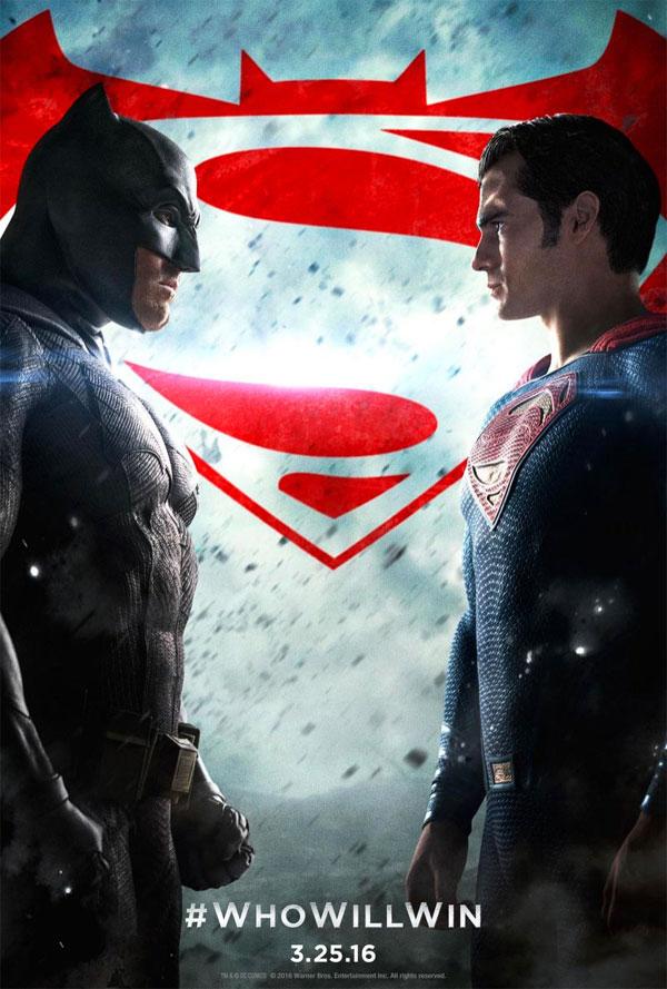 Image of the Batman v Superman movie poster