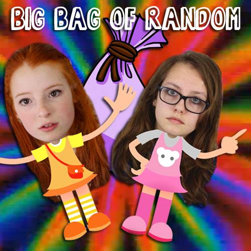 Photo of cartoon girls with swirly background
