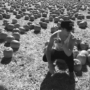 Photo on pumpkin patch