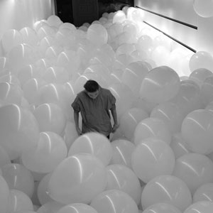 Photo of popping balloons