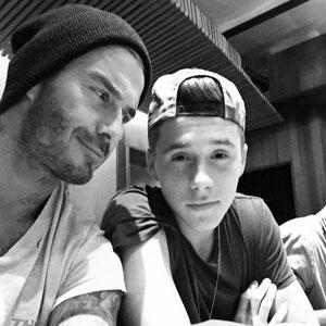 Brooklyn and dad David Beckham