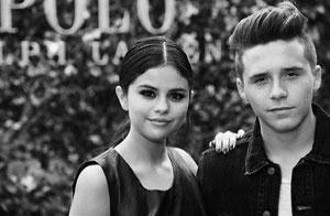 Brooklyn and Selena Gomez