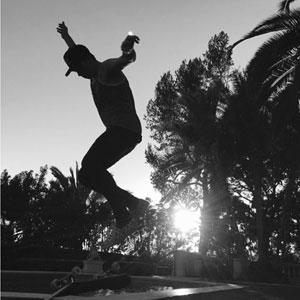 Brooklyn on his skateboard again