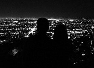 Brooklyn Beckham's skyline silhouette photo