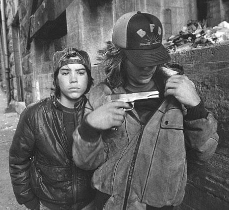 Brooklyn Beckham gun photo