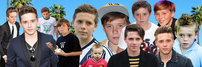 Brooklyn Beckham photo montage, young child to teenage boy
