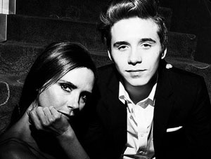 Brooklyn Beckham with beautiful mum Victoria