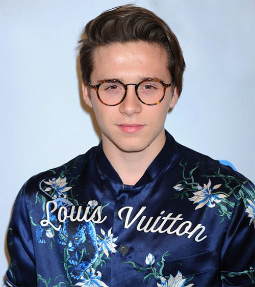 Brooklyn Beckham wearing glasses