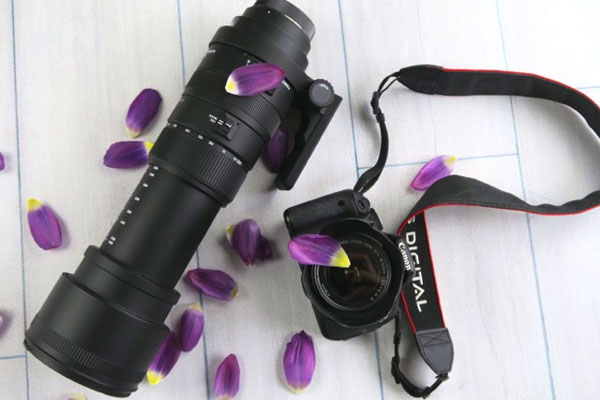 Photo of large Sigma 50-500mm zoom lens