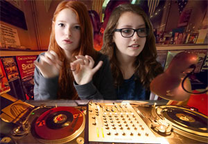 Chart chat with record decks and girls as DJs