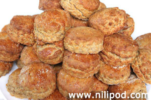 Picture of round homemade cheese scones