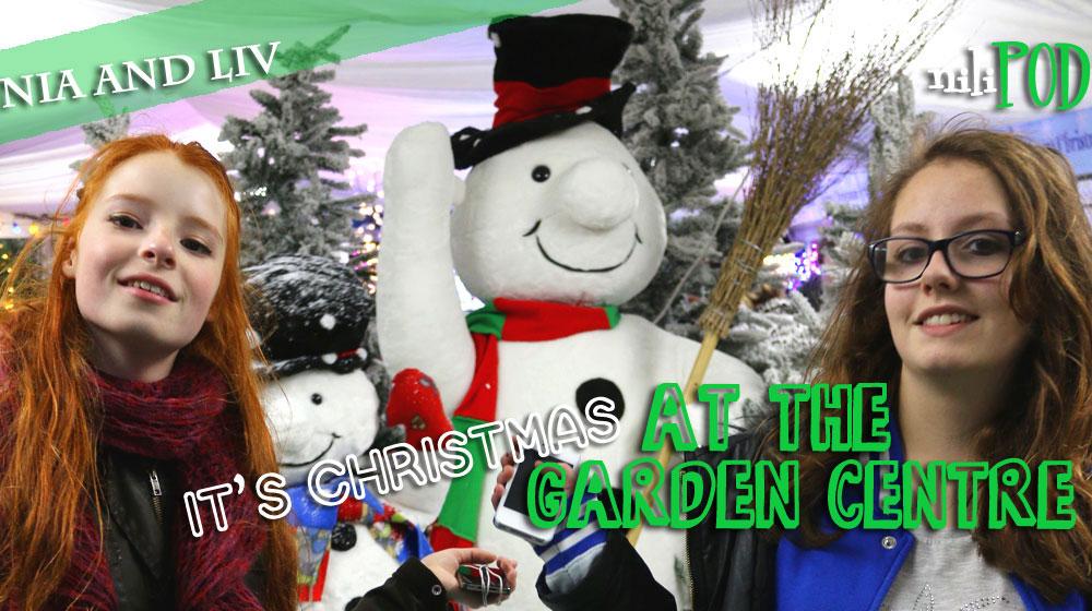 Shopping at the Christmas garden centre