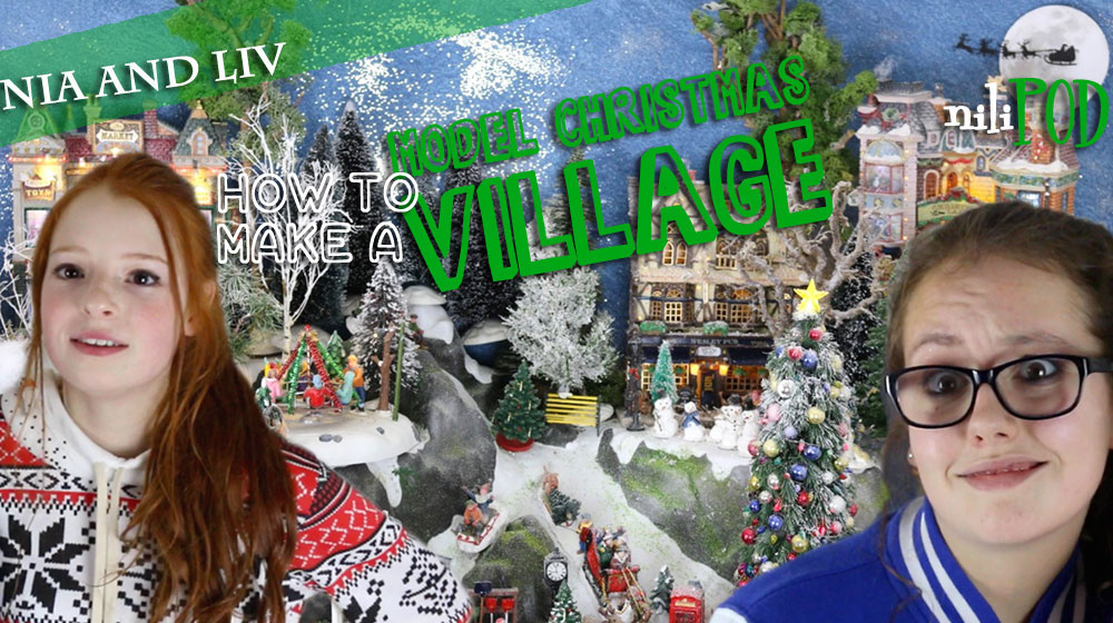 Making a model Christmas village