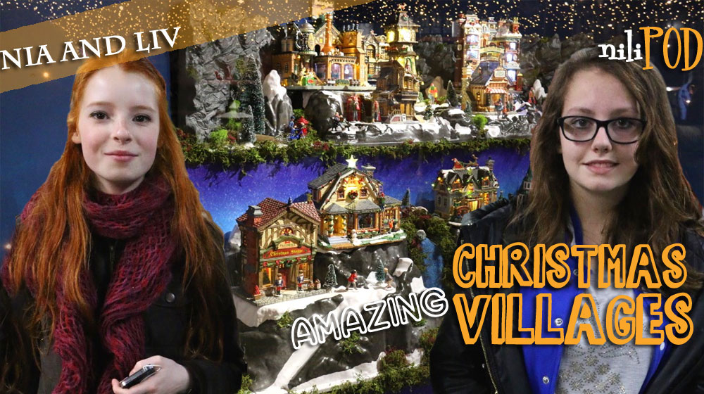 Looking at professional model Christmas villages