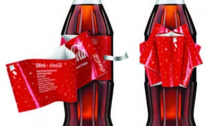 Picture of Coca Cola bottle with bow label