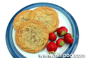 Image of cookies with strawberries