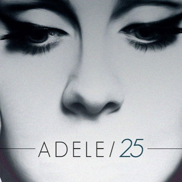 Image of the Adele 25 CD album cover