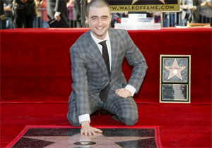 Photo of Daniel Radcliffe and his Hollywood Walk of Fame star