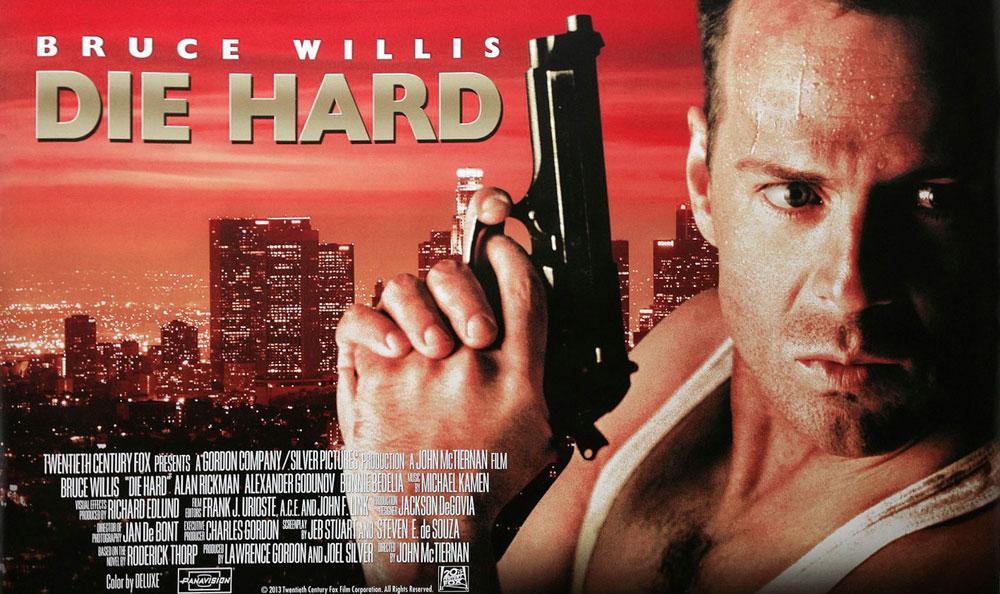 Die Hard movie poster with Bruce Willis