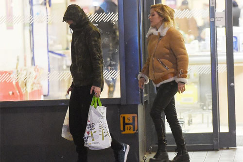 Photo of Dougie Poynter and Ellie Goulding shopping