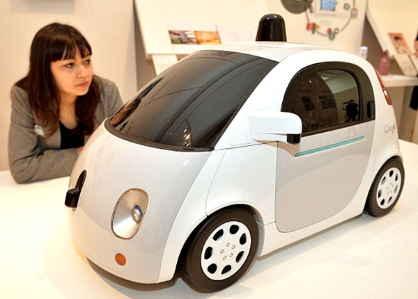 Picture of Google driverless self-driving car