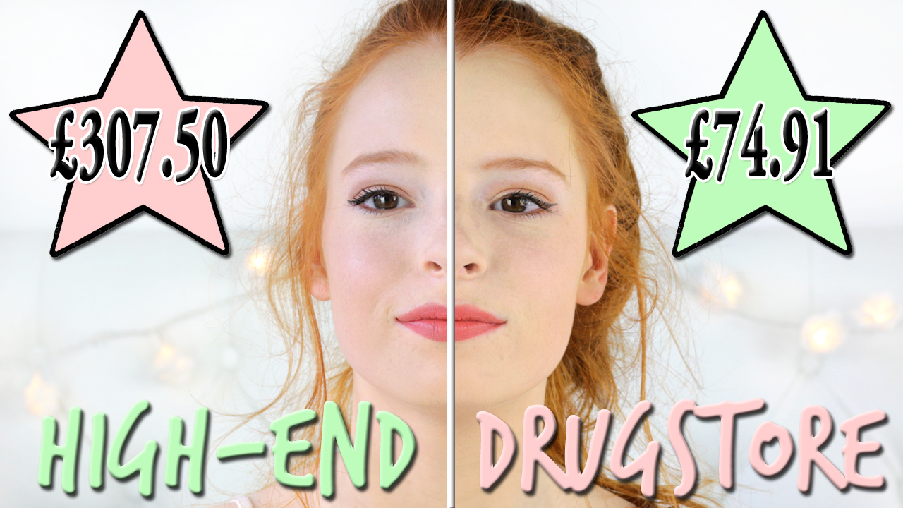 YouTube video on High-End vs Drugstore Makeup