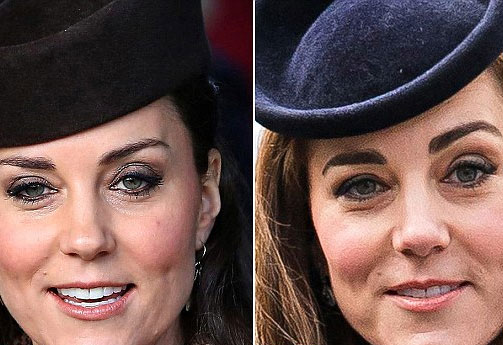 Picture of Kate Middleton's bushy eyebrows