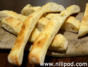 Photo showing slices of focaccia bread