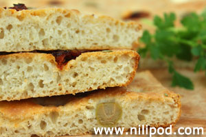 Image of some homemade focaccia bread