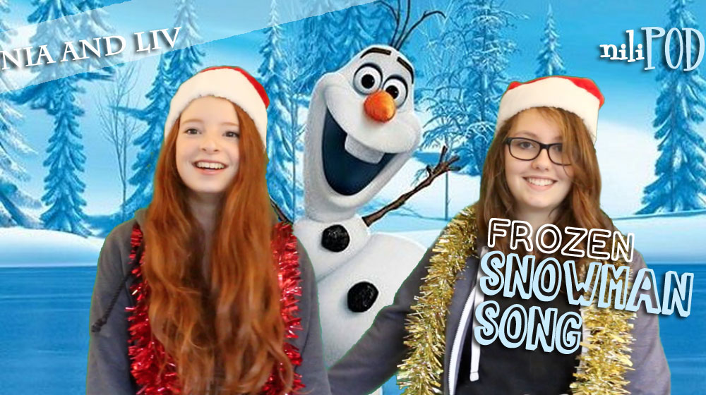 Singing Do You Want to Build a Snowman from Frozen, with Anna and Elsa