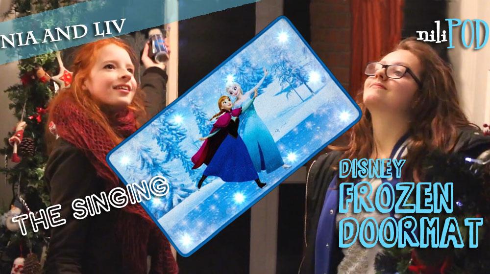 Setting up the singing Frozen doormat - Let It Go