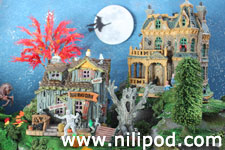 Picture of model Halloween village