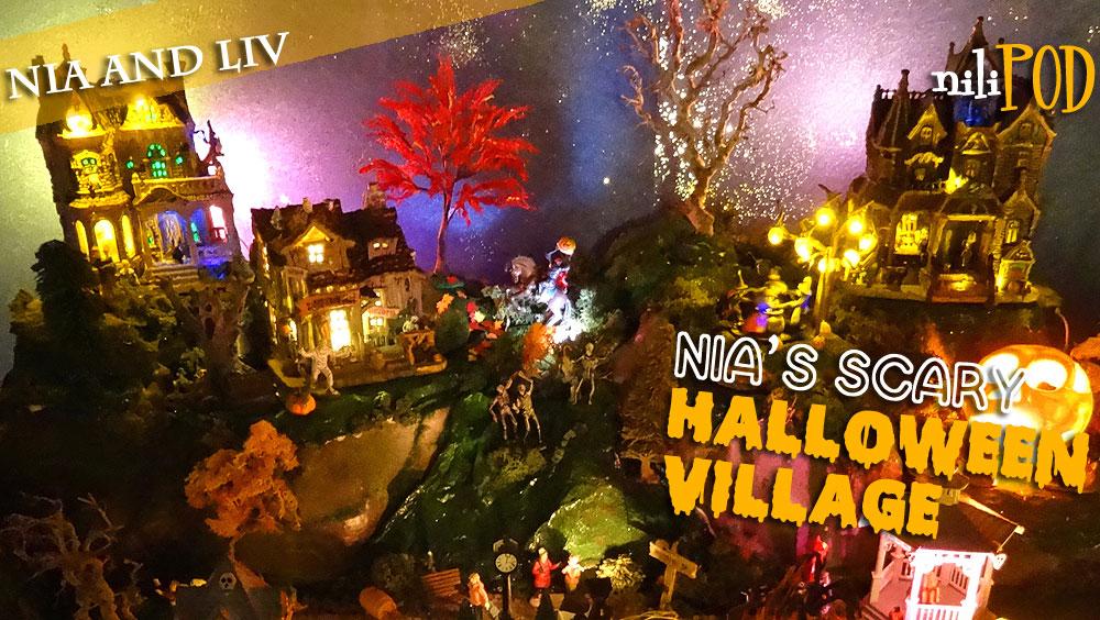 Scary model Halloween village video