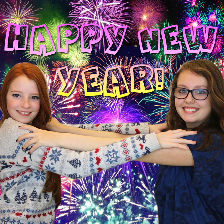 Happy New Year fireworks photo