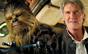 Harrison Ford and Chewbacca in new Star Wars film