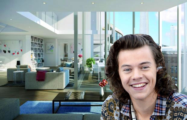 Photo of Harry Styles and trendy Battersea Power Station flat