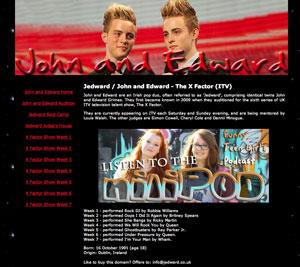 Jedward website picture