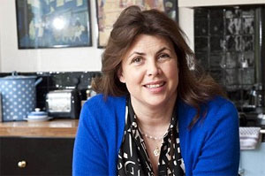 Image of the lovely Kirstie Allsopp in her kitchen