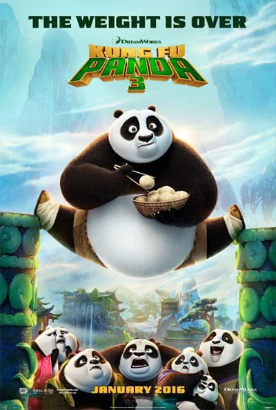 Image of the Kung Fu Panda 3 movie poster