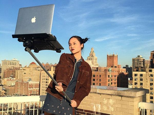 Image of Apple MacBook selfie stick