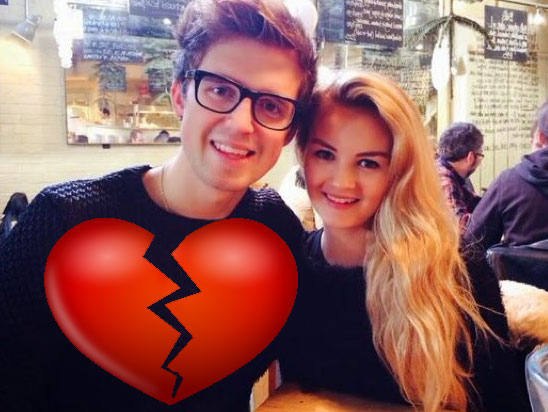 Image of Marcus Butler and Niomi Smart, now spilt