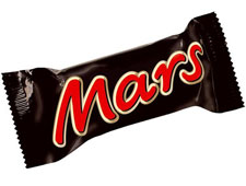 Photo of a Mars Bar against white background