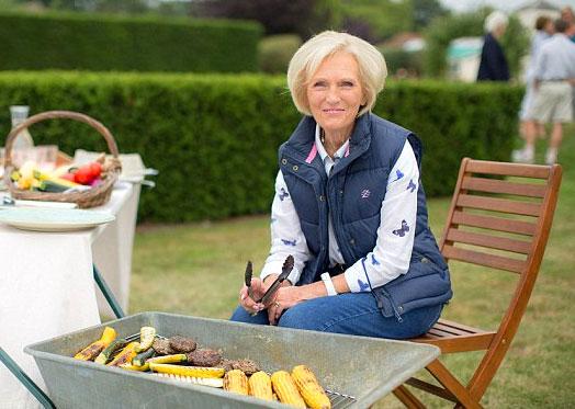 Photo of Mary Berry's wheelbarrow barbecue