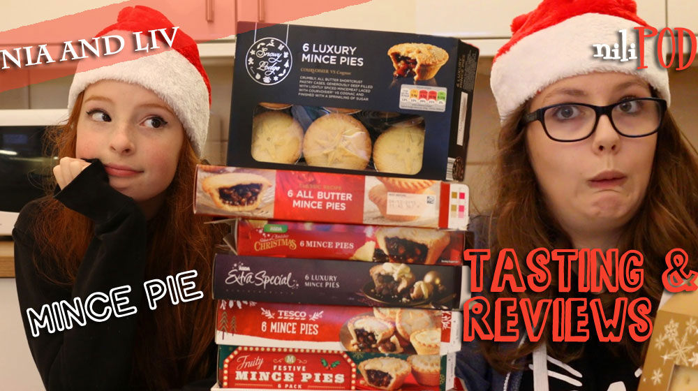 Tasting and reviewing lots of mince pies