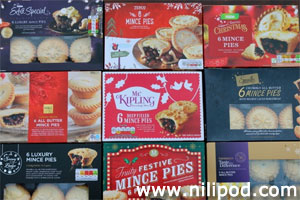 Photo of mince pie boxes