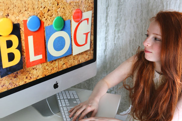 Image of computer blog