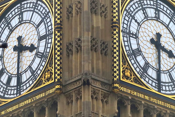 Picture of the Big Ben clock faces