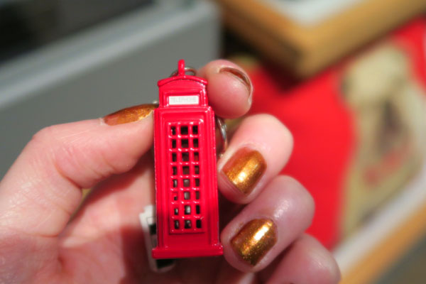 Photo of toy red London phone box